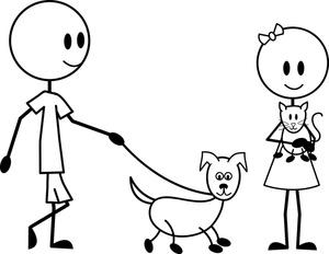 Food Stickman Cartoon Pets
